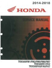 Honda Trx500 2014 2015 2016 2017 2018 Trx 500 Fm Fe Fa Atv service manual