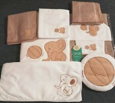 BABY EMBROIDED & MATCHING SET OF TOWEL WITH GLOVE MITTEN, CHANGE MAT,BLANKET&BIB