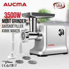 AUCMA 3500W Electric Meat Grinder Stainless Steel Cutting Plates KIBBE Sausage