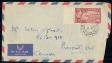 Mayfairstamps Jamaica Kingston Harbour Prescott Ontario Cover wwf_71009