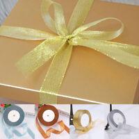 25 Yard Berisfords Rose Gold Copper Sparkly Lame Metallic Glitter Ribbon 20mm