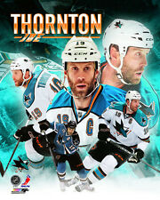 JOE THORNTON San Jose Sharks NHL Hockey Premium Action Collage POSTER Print