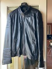 Real Leather Motorcycle Style Jacket, Size M / L