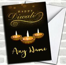 Golden Candles Customized Diwali Greetings Card