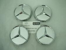 Genuine Mercedes-Benz Silver Chrome Alloy Wheel Hub Cap / Centre Caps B66470202