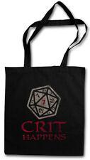 CRIT HAPPENS SHOPPER SHOPPING BAG Dungeons Gamer Games & RPG Dragons Dice