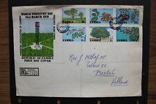 ZAMBIA 1976 Registered FDC World forestry day sent to Holland