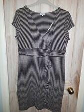 b89c5cdf1c6 Kaliko Wiggle Dress Plus Size UK 20 Coffee and Cream Stripes