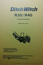 Ditch Witch R30 Tractor Digging Attachment Owner Install Amp Parts Manual Trencher