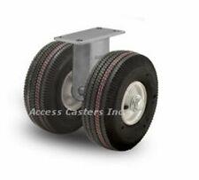 "21PN295R 21"" Dual Wheel Pneumatic Heavy Duty Rigid Plate Caster 4840 lb Capacity"