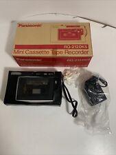 Vintage Panasonic RQ-212DKS Cassette Tape Recorder Original Box Tested Works