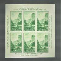 1934 U.S CLASSIC Natl Parks Issue YOSEMITE S/S  Sc#751 M/NH/OG** Pristine