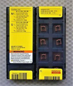 10x SANDVIK CARBIDE INSERTS CCMT 06 02 04-UM, CCMT 2(1.5)1-UM, Grade 1115