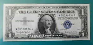 ⭐️ USA / ETATS-UNIS - BILLET 1 DOLLAR BLEU - 1957 B - RARE / NEUF UNC