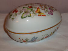 Fine Porcelain Decorated Avon Egg with 22K Gold Trim Collectible Egg Avon 1979