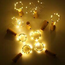 2M 20 LEDs Weinflasche Kork Lichter LED Flaschenlichter Lichterketten+ Batterie