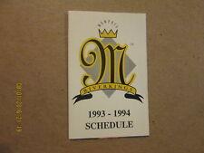 CHL Memphis Riverkings Vintage 1993-94 Pocket Schedule