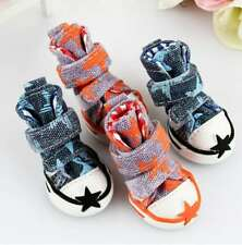 Puppy Pet Dog Cat Cute Sport Shoes Anti-slip Boots Canvas Star Sneakers