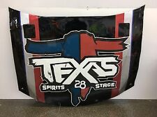 NASCAR Race Used Sheet Metal #28 JJ Yeley Texas Spirits 2015 Hood-JGL