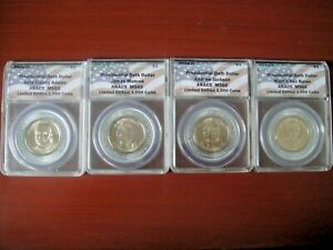 2008D $1 Presidential Oath Dollars ANACS MS65-MS66 Limited Edition Full Set of 4