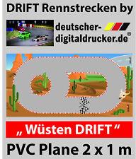 Wüsten DRIFT Rennstrecke - RC Cars -  Plane 4 farbig - 2 x 1 für Sturm &  Kind