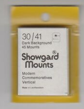 SHOWGARD Black Stamp Mount Cut to Size 30mm x 41mm PART PACK 3745 MOUNTS
