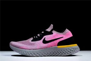 NIKE EPIC REACT FLYKNIT MENs Pink Black Grey RUNNING SHOES SIZE 12.5 AQ0067-500