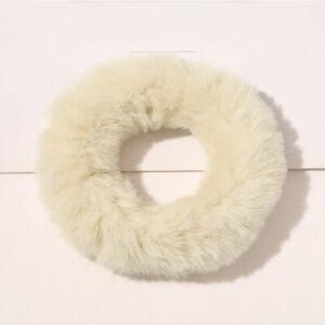 1PC Faux Rabbit Fur Scrunchies Plush Hair Ring Rubber Band GirlsHair Accessories