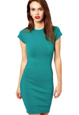 FRENCH CONNECTION Aquamarine Dani Crepe Work/Office Dress Size 4/S NWT