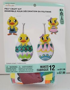 Creatology Easter Felt Craft Kit. Makes 12. Ages 6+. Chicken and eggs.
