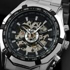 Mens Watch Automatic Silver Stainless Steel Case Self-winding Time Analog Luxury