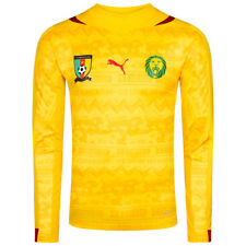 Cameroon Puma Away Shirt World Cup 2014 L Player Issue ACTV BNWT Long Sleeves