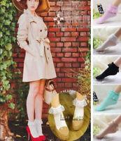 NEW Women Ankle Fancy Retro Lace Ruffle Frilly Princess Lolita Wear Short Socks