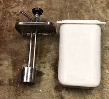 Stainless CECILWARE 302K Heavy Syrup Sauce Dispenser Lever Pump & Cover & Conta