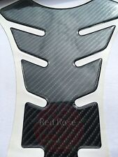 Carbon Fibre Look Motorcycle Tank Pad Protector 5D High Quality Motorbike Spine