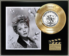 I Love Lucy 24k Gold Record Laser Etched Theme Song Lyrics & Reprint Autograph