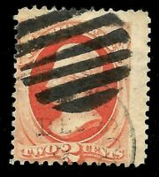 """Fancy Cancel """"Bold Grid"""" SON Sc #178/183 Jumbo 2 Cent 1875-79 US Stamps 1511"""
