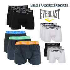 LARGE  EVERLAST 3 PACK BOXER SHORTS BOXERS MENS BOXERSHORTS BLACK BLUE GREEN
