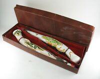Vintage Souvenir Majolika italienisch Pistolen mit Wein in Geschenk Box Kitsch