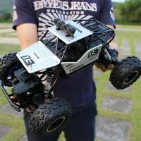 4WD RC Monster Truck Off-Road Vehicle 2.4G Remote Control Crawler Car Silver