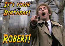 Invasion of the Body Snatchers Birthday PERSONALISED art Card Donald Sutherland