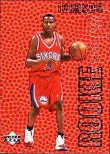 1996 - 1997 Upper Deck Rookie Exclusives Allen Iverson Philadelphia 76ers #R1 Basketball Card