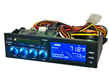 "5.25"" E-SATA Cardreader LCD CPU Temp Water Cooling PC 4 Fan Speed Controller led"