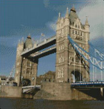 "London Tower Bridge Counted Cross Stitch Kit 10"" x10.5"""