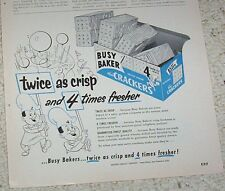 1952 print ad -Busy Baker crackers -Guthrie Biscuit Co- San Francisco California