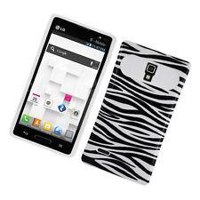 For LG Optimus L9 P769 TPU Candy HYBRID GLOW Case Phone Cover Zebra