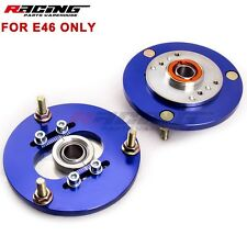 Coilover Camber Plates ×2 For BMW E46 320 323 325 328 M3 Front Top Mounts Blue