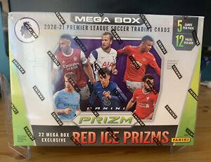 2020-21 EPL PRIZM SOCCER SEALED MEGA BOX RED ICE SEALED