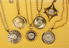 [Lot of 6] Vintage Mechanical Hand-Wind PENDANT Watch SWISS MADE <VGU>