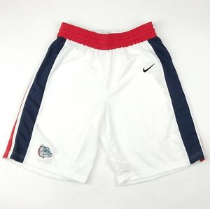 Nike Gonzaga Bulldogs Elite Enforcer Basketball Short Men's L White 802301